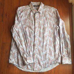 Perry Ellis Button paisley down shirt